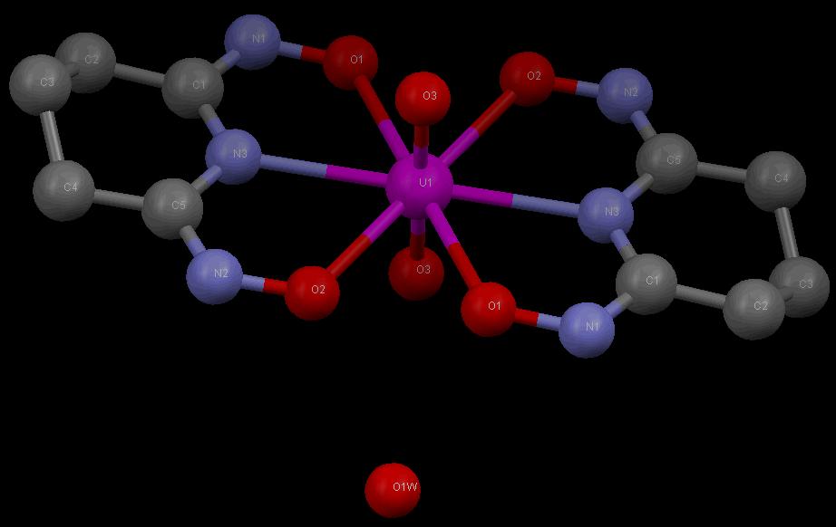Krystalová struktura UO2(HA)2