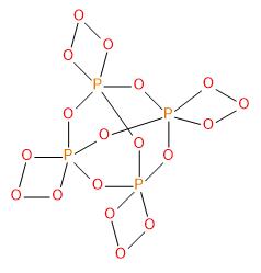 Struktura ozonidu P4O18