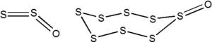 Struktury suboxidů síry