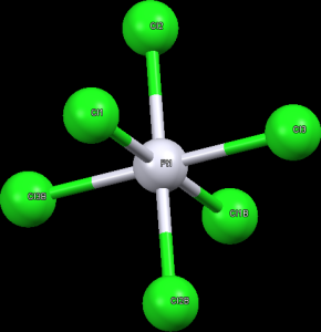 Struktura aniontu [PtCl6]-