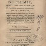 Traité Élémentaire de Chimie, Antoine Lavoisier, 1790