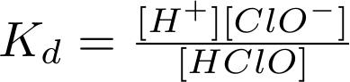 Disociační konstanta HClO