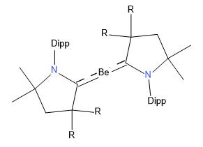 Struktura komplexů s centrálním atomem beryllia v oxidačním stavu 0