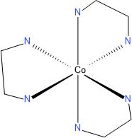 Struktura komplexu Co(en)3