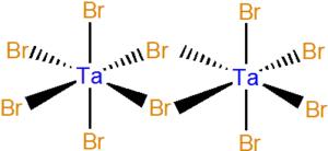 Struktura Ta2Br10