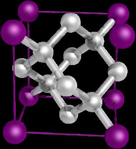 Základní buňka krystalu diamantu