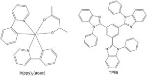 Struktura sloučenin použitých pro výrobu OLED