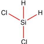 Ukázka chemických vazeb v molekule dichlorosilanu