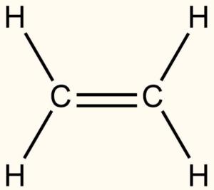 Strukturní vzorec ethenu