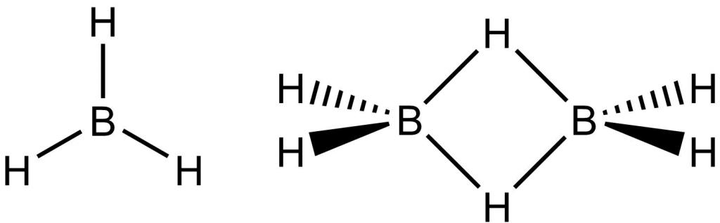 Struktura boranu a diboranu