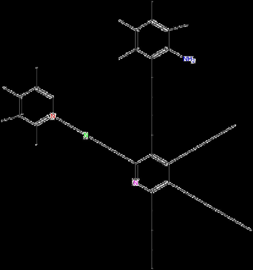 Ukázka části struktury GDY dopovaného dusíkem.