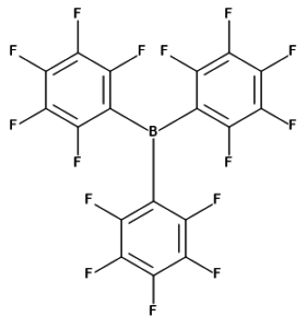 Struktura B(C6F5)3